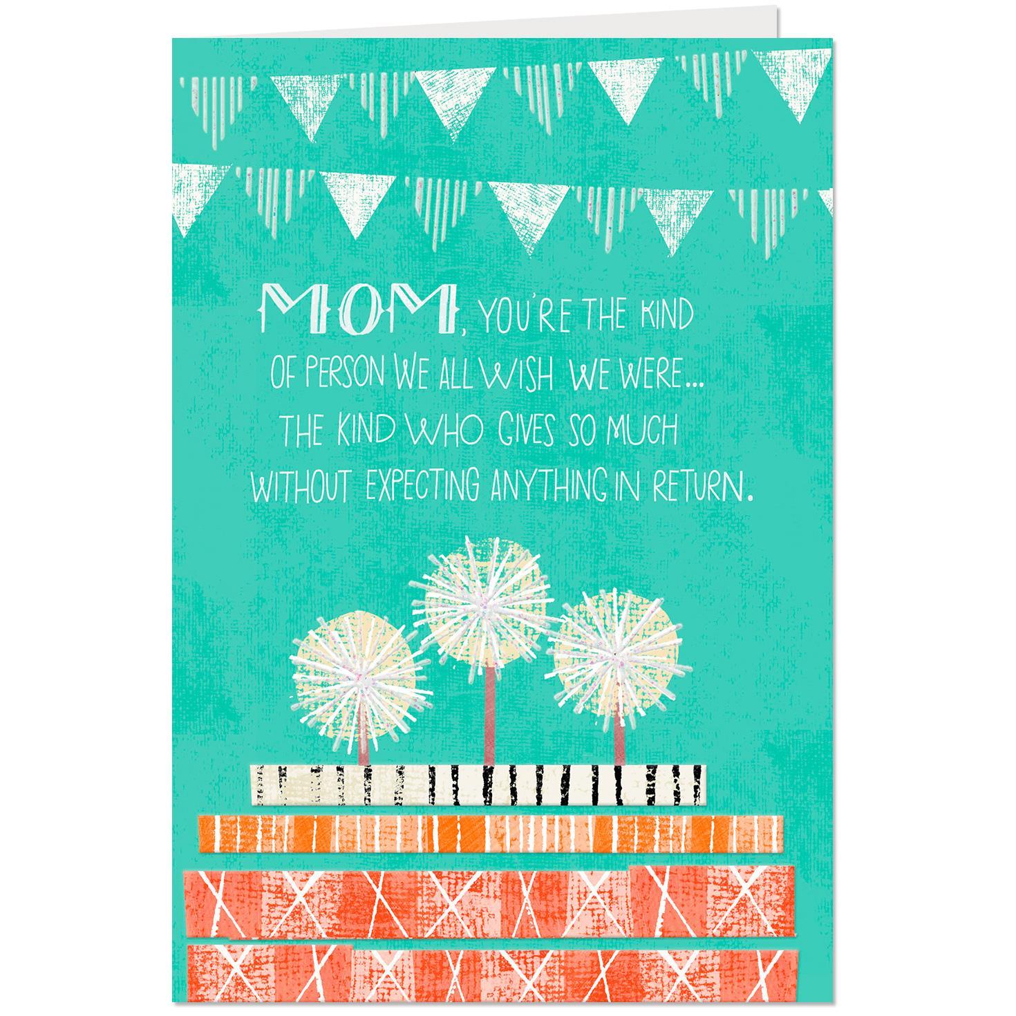 We Will Always Cherish You Birthday Card for Mom