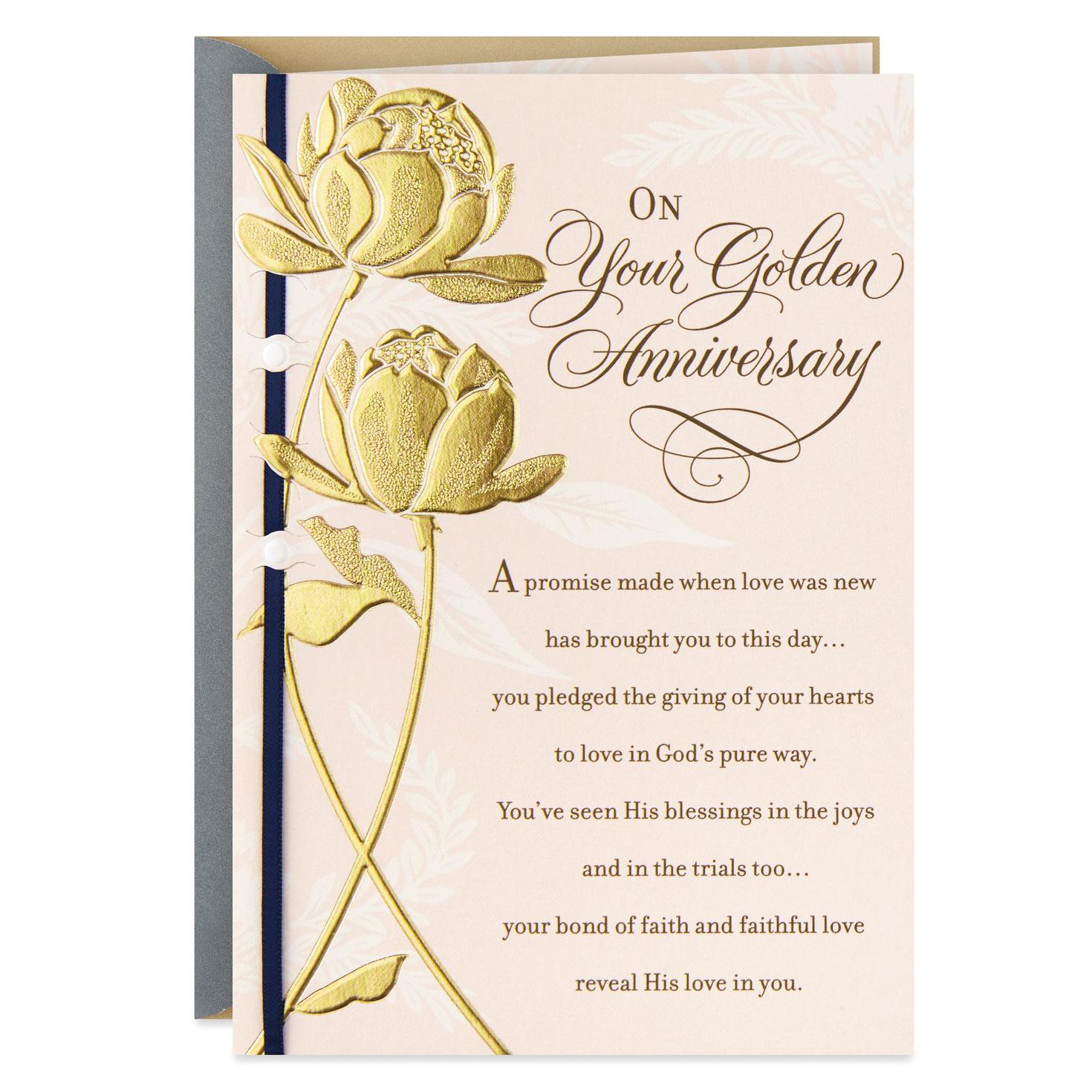Hallmark Wedding Anniversary Gifts: Rich Blessings Religious 50th Wedding Anniversary Card