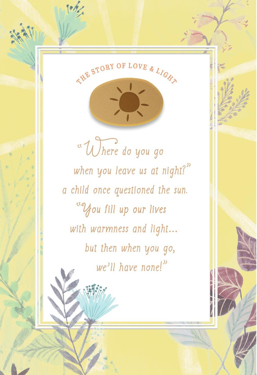 The Story Of Love And Light Encouragement Card
