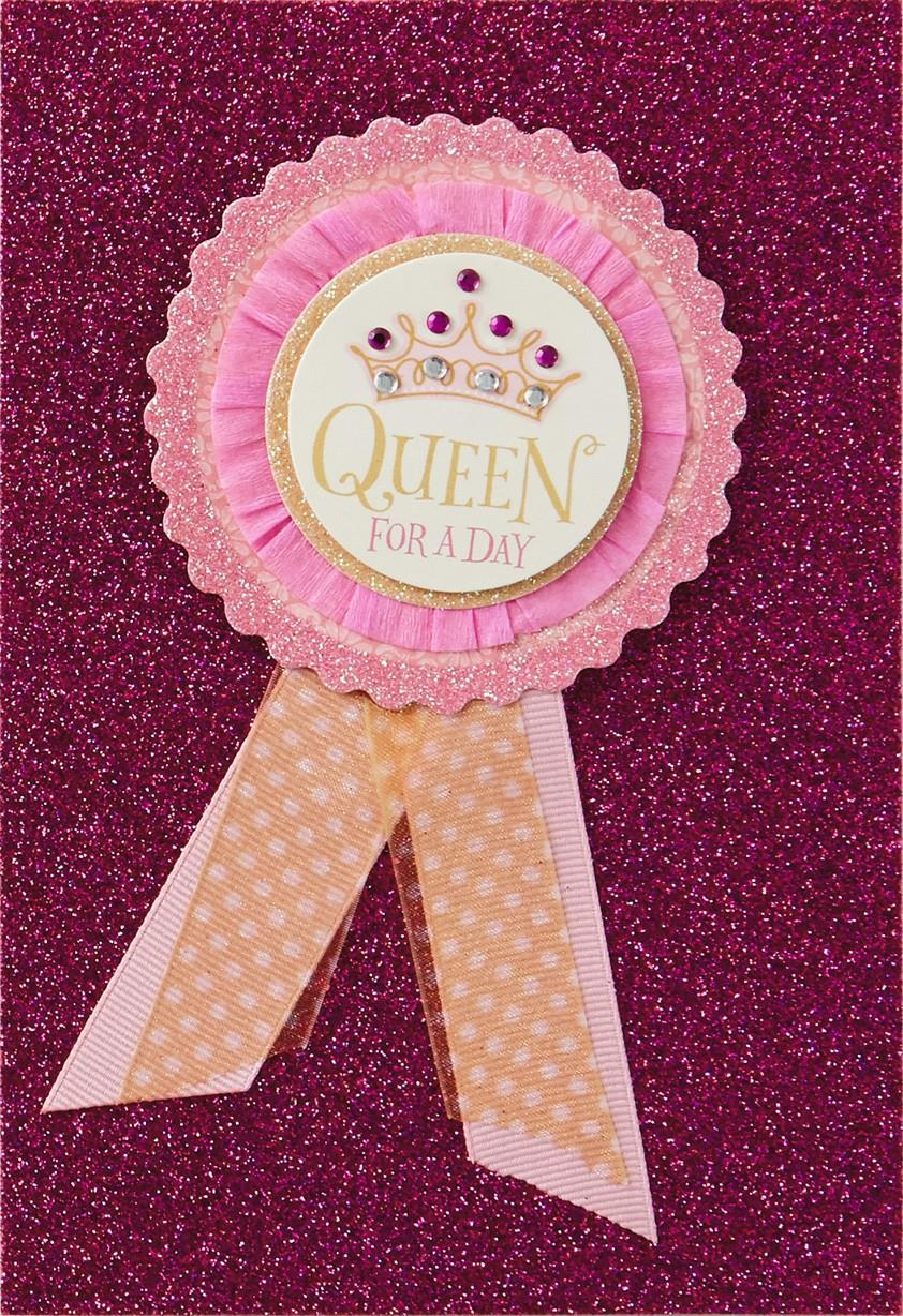 Queen for a day birthday card greeting cards hallmark queen for a day birthday card kristyandbryce Image collections