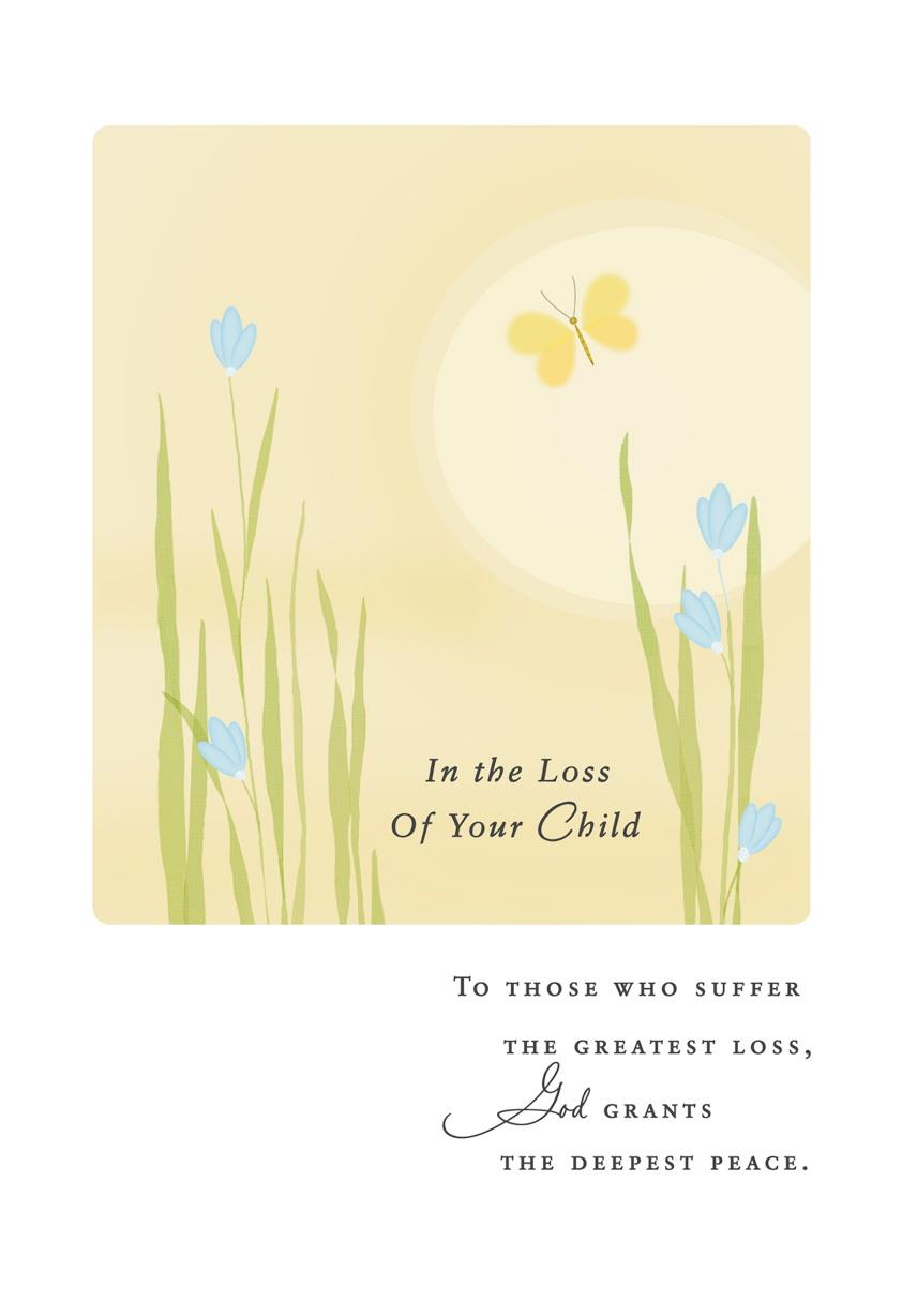 Beautiful Butterfly Religious Sympathy Card For Loss Of