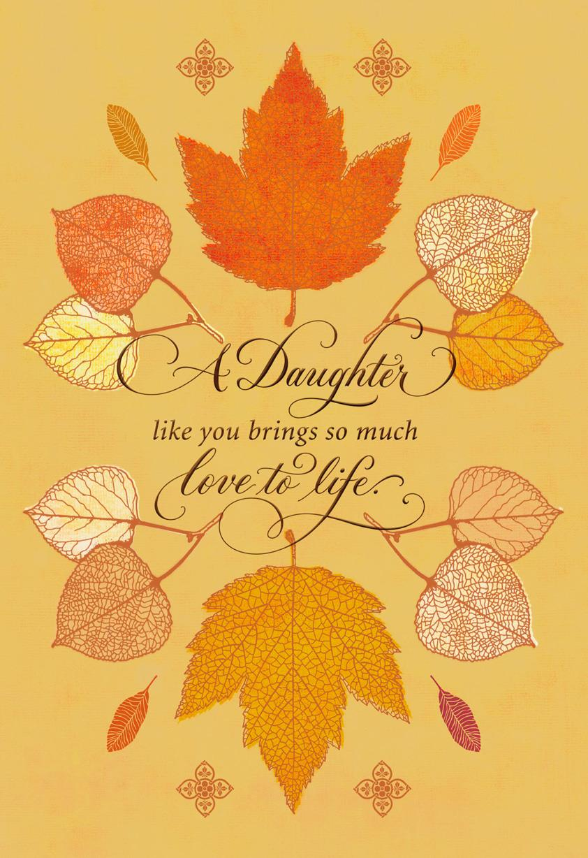So Thankful For You Thanksgiving Card For Daughter Greeting Cards