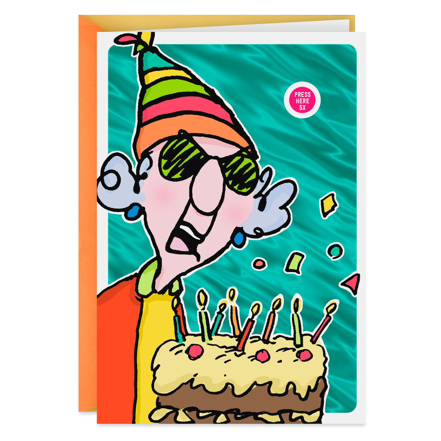 maxine™ crabby wishes birthday card with sound  greeting