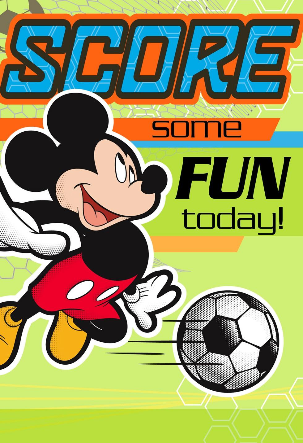 Mickey Mouse Soccer Kids Birthday Card Greeting Cards Hallmark – Mickey Mouse Birthday Cards