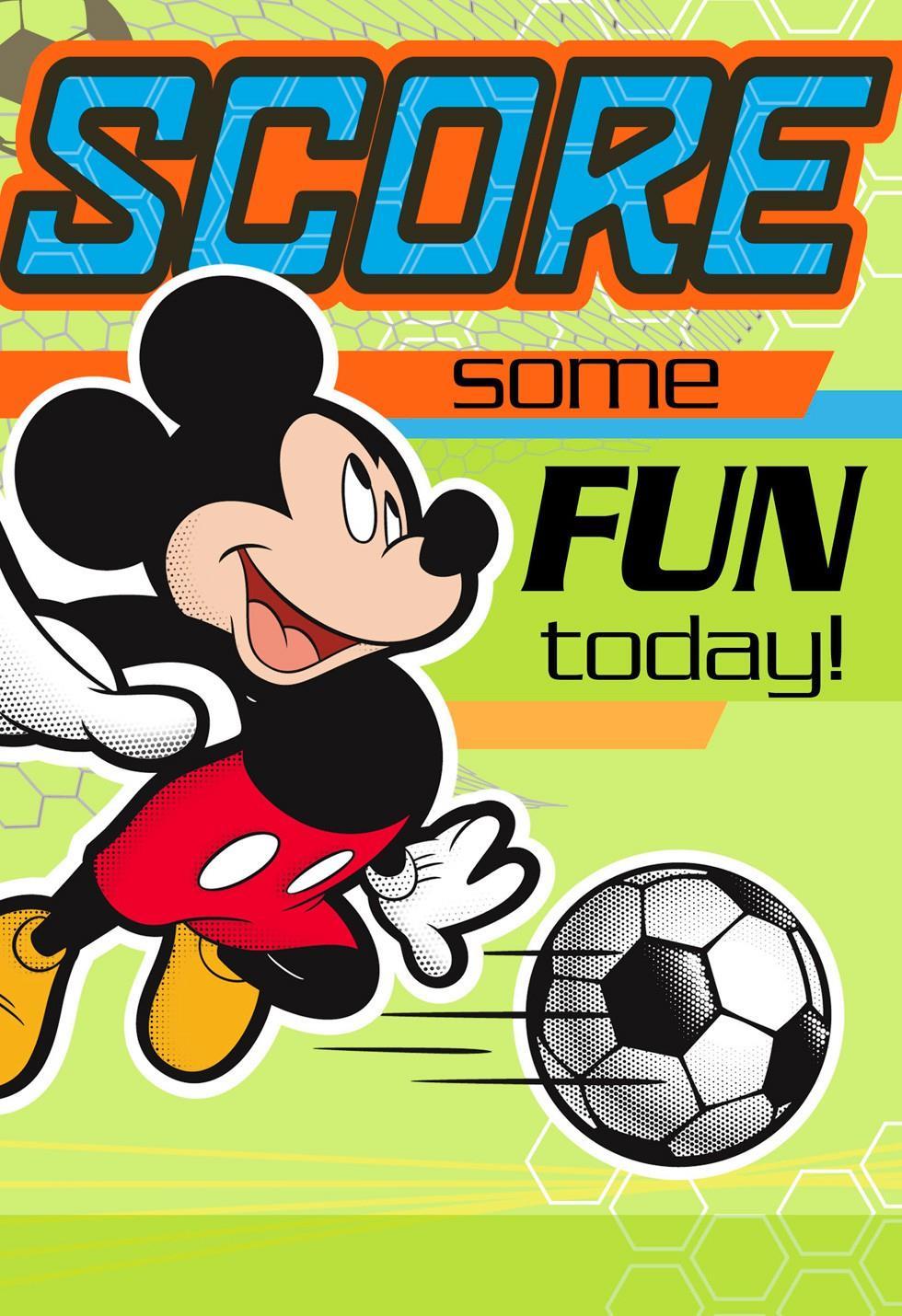 Mickey Mouse Soccer Kids Birthday Card Greeting Cards Hallmark