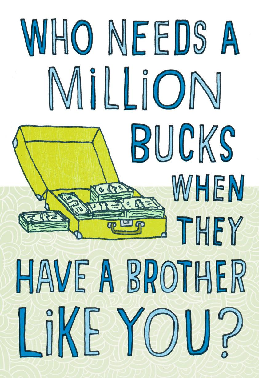 Million Bucks Funny Birthday Card For Brother Greeting Cards