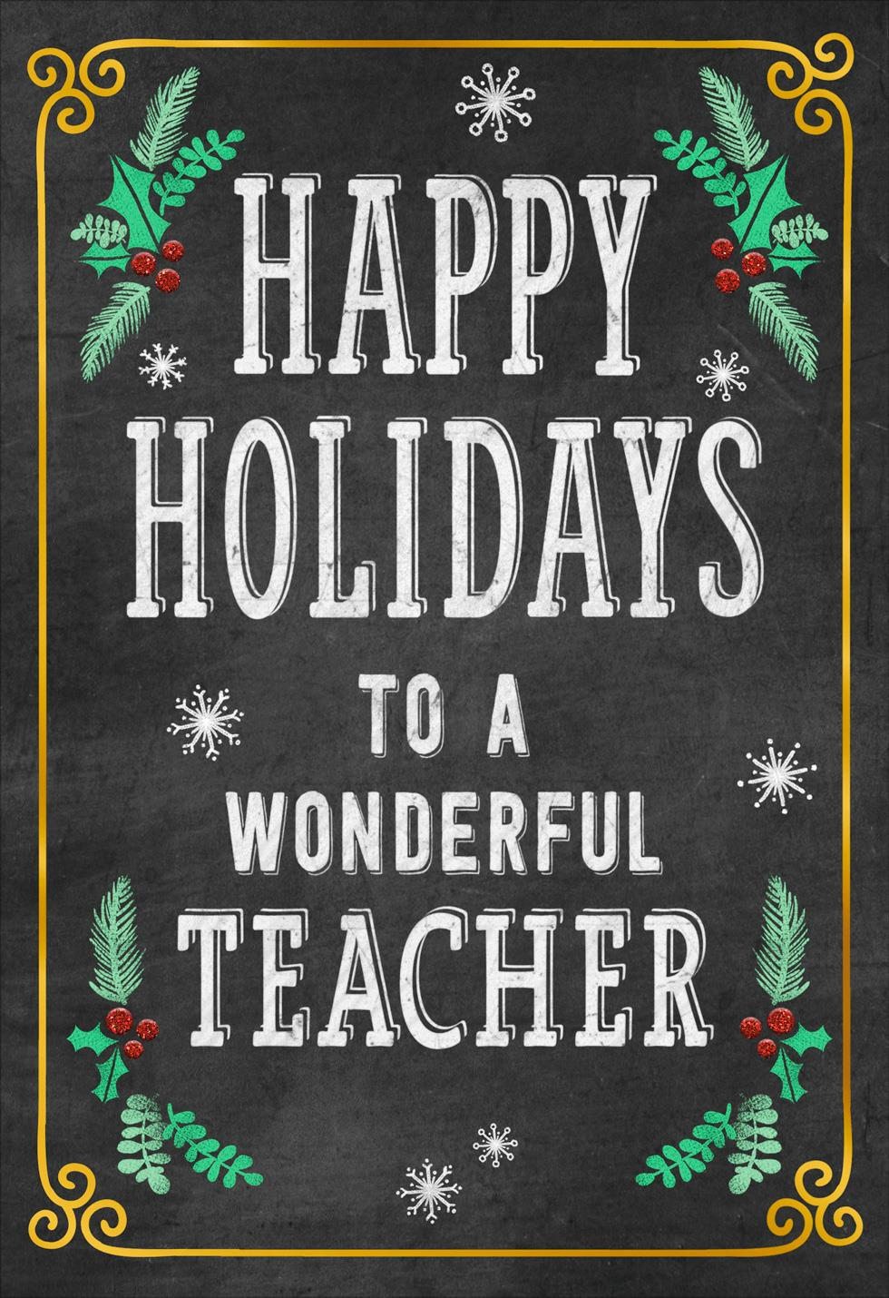 Well deserved break christmas card for teacher greeting cards well deserved break christmas card for teacher kristyandbryce Image collections
