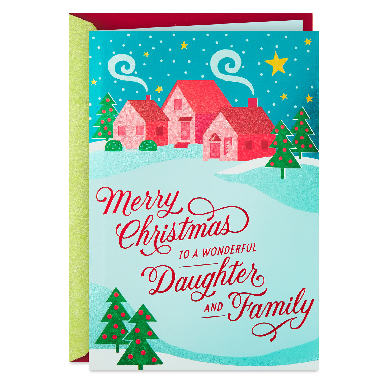 wishing you love christmas card for daughter and family
