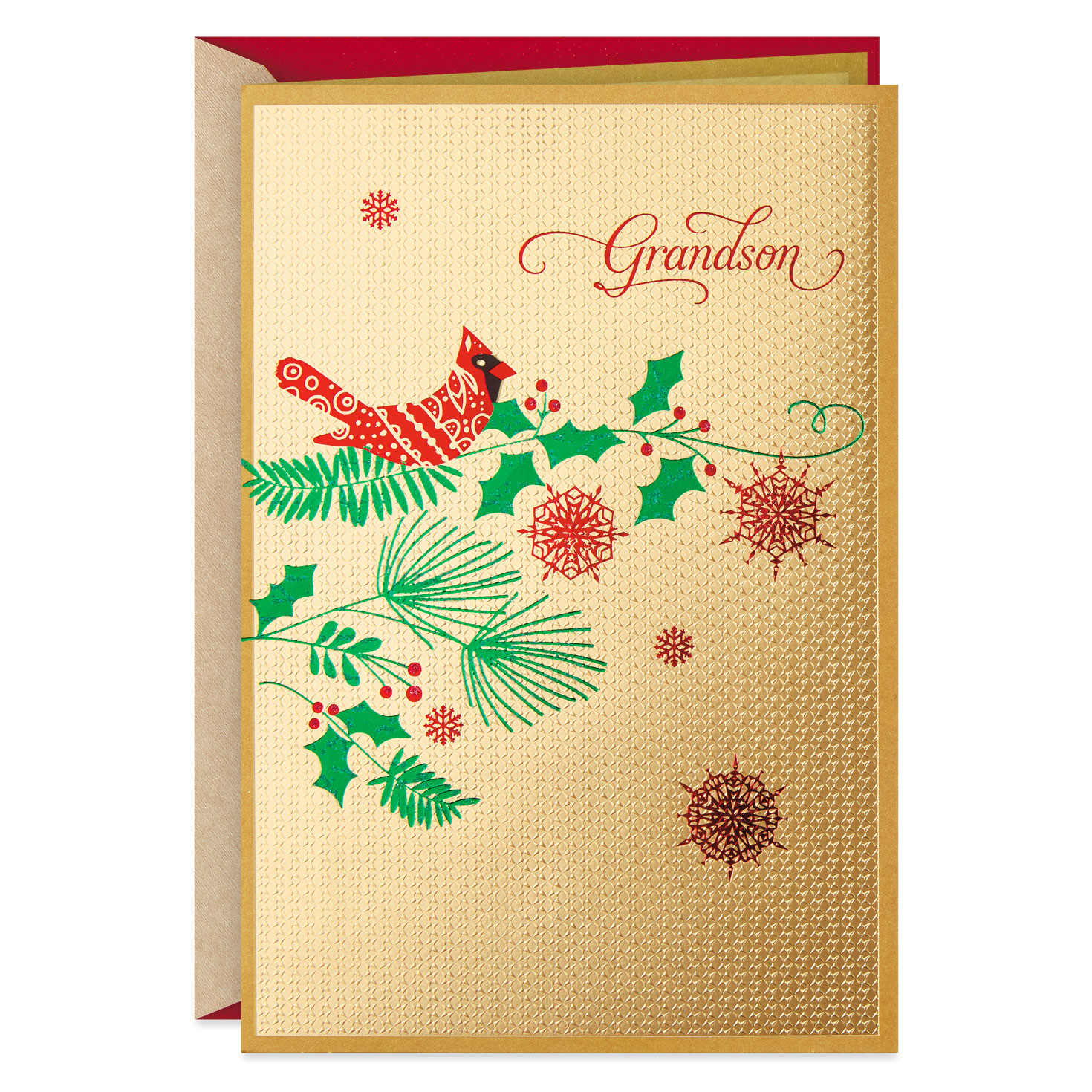 So Proud Of You Grandson Christmas Card