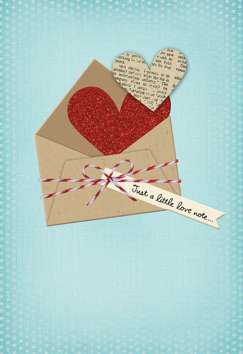 Just A Little Note Love Card Greeting Cards Hallmark