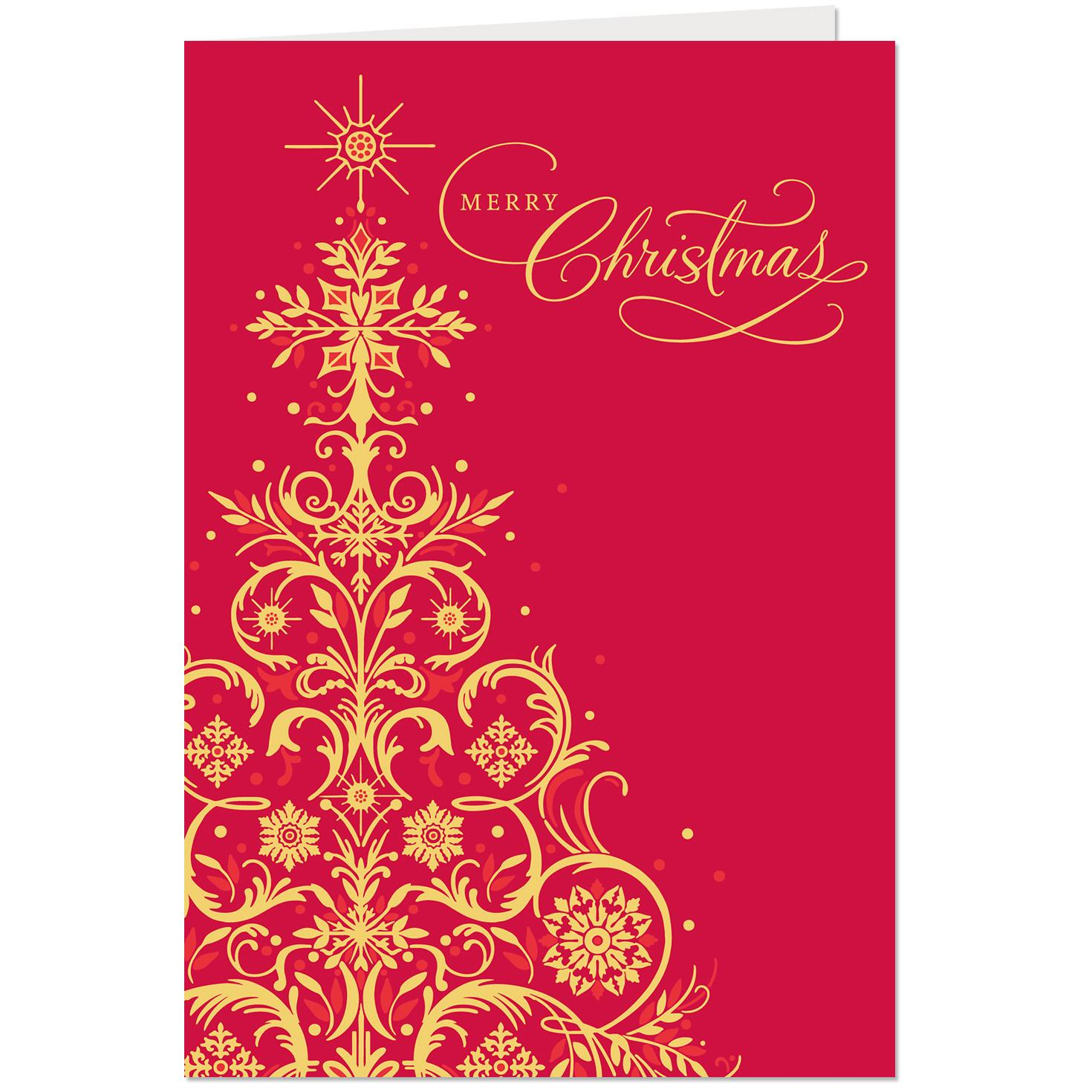 Stylish Wishes Christmas And New Years Card Greeting Cards Hallmark