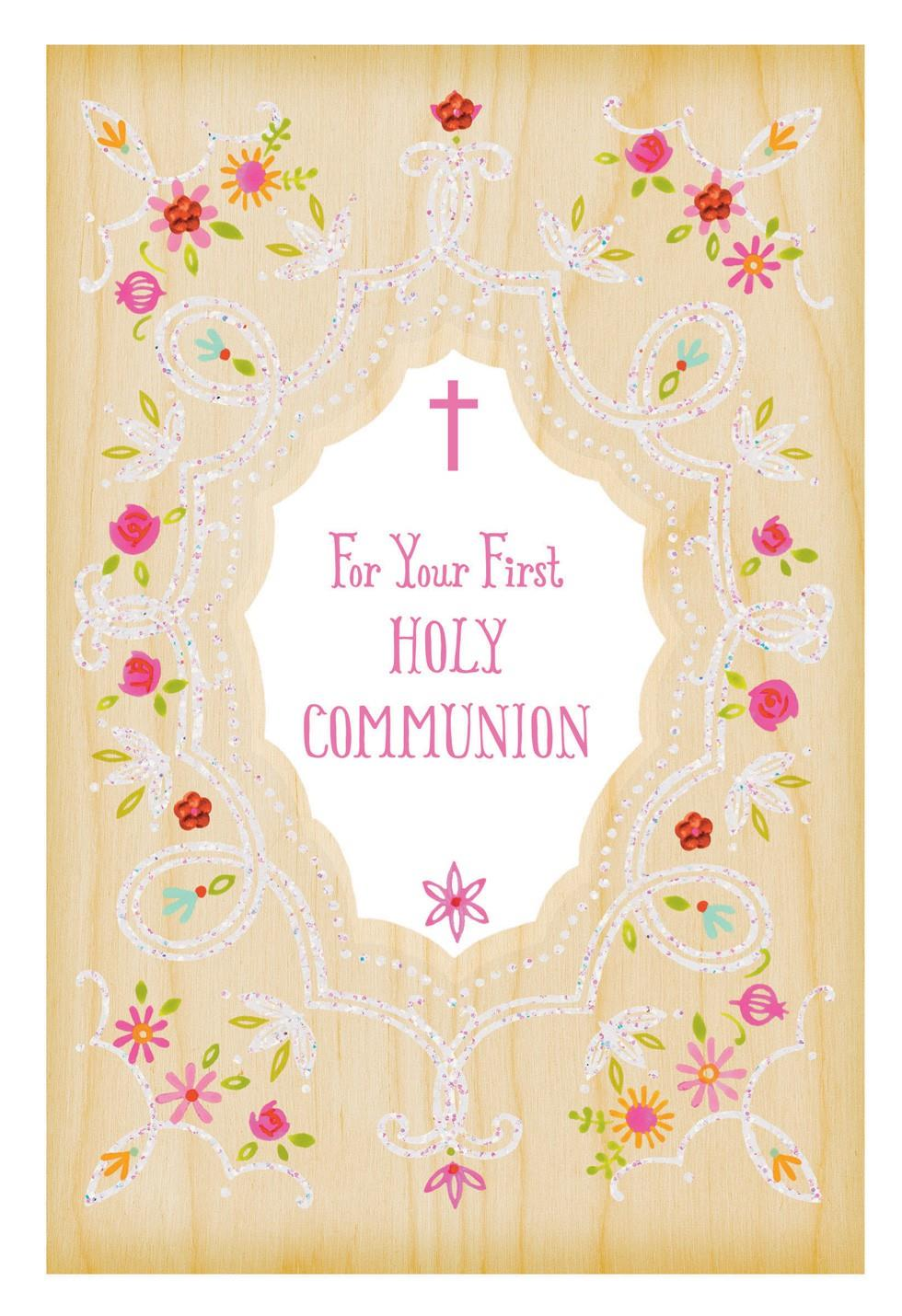 every grace and blessing first holy communion card for her