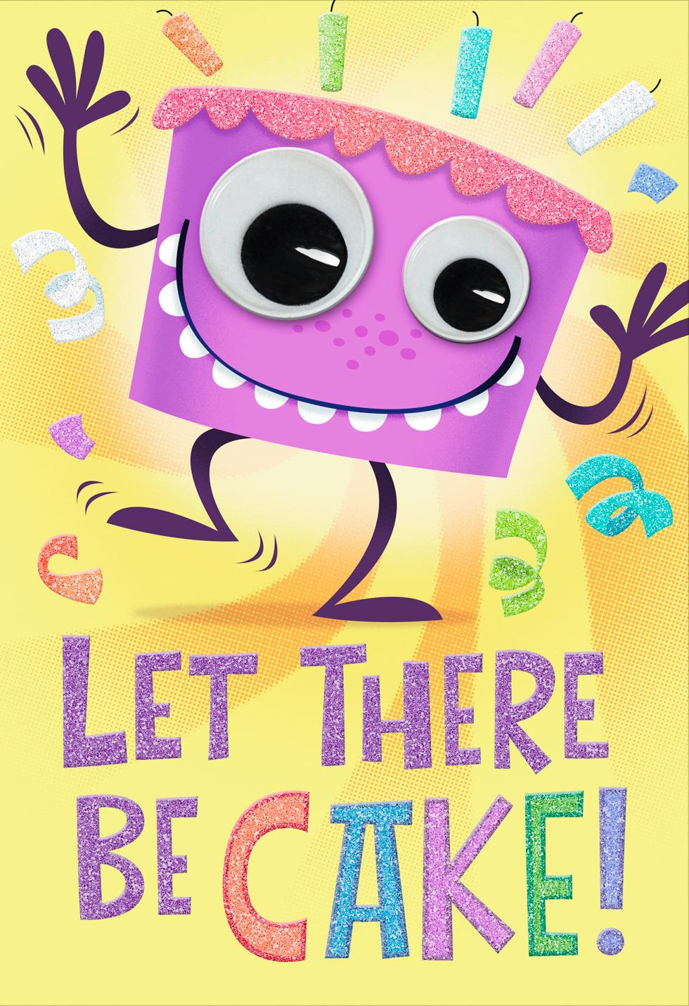 let there be cake birthday card - greeting cards