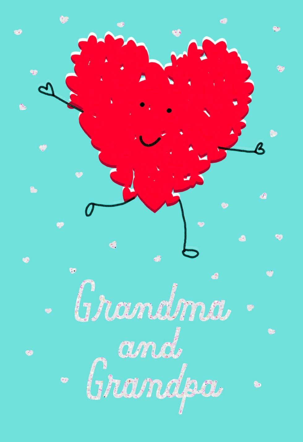 You make my heart smile valentines day card for grandparents you make my heart smile valentines day card for grandparents kristyandbryce Choice Image