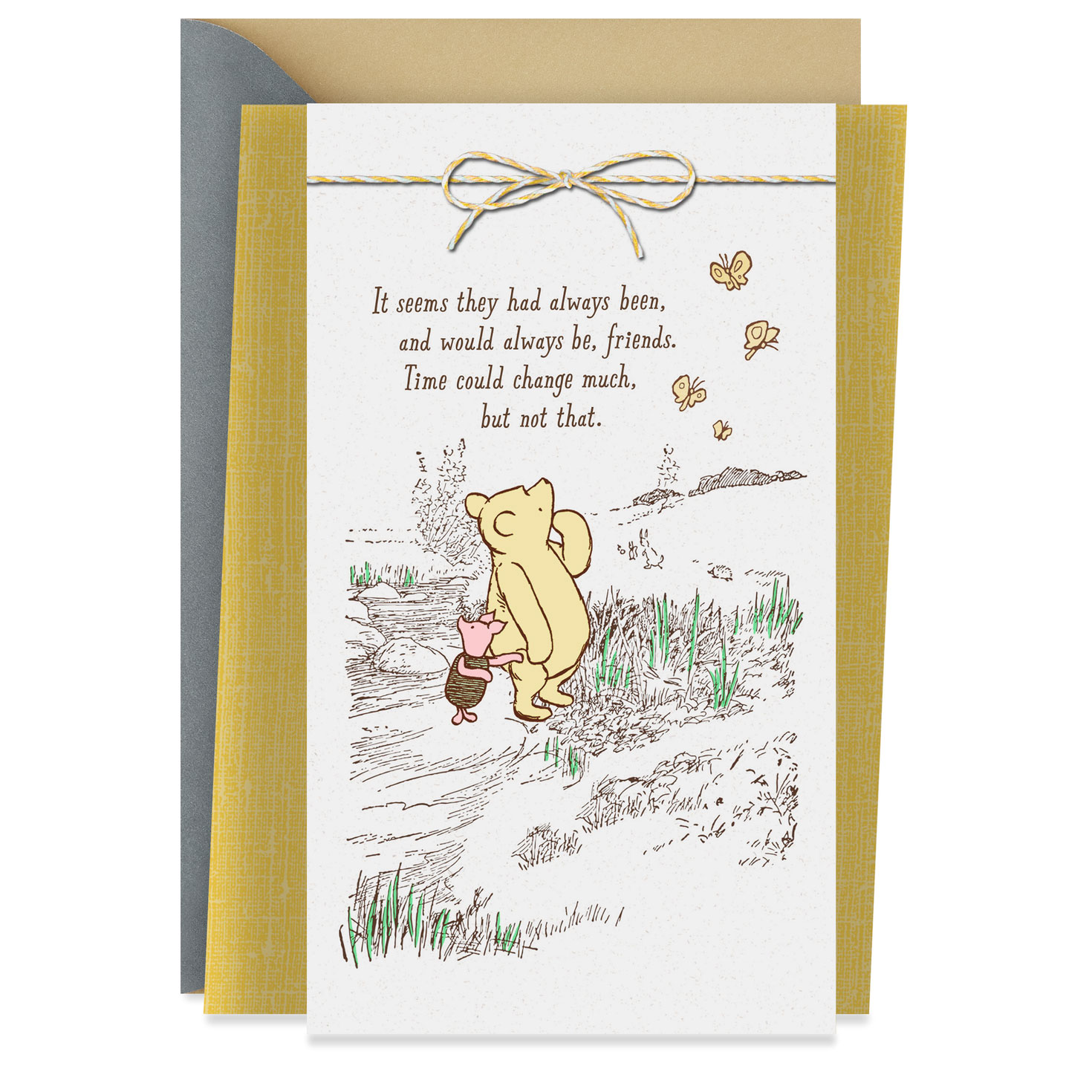 Disney Winnie The Pooh Grateful For You Friendship Card
