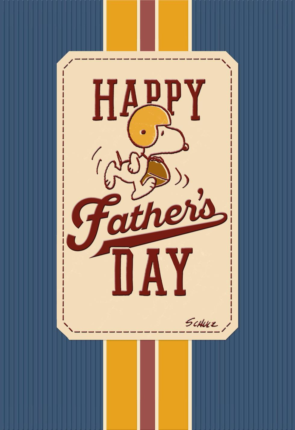 Peanuts 174 Snoopy Football Father S Day Card Greeting