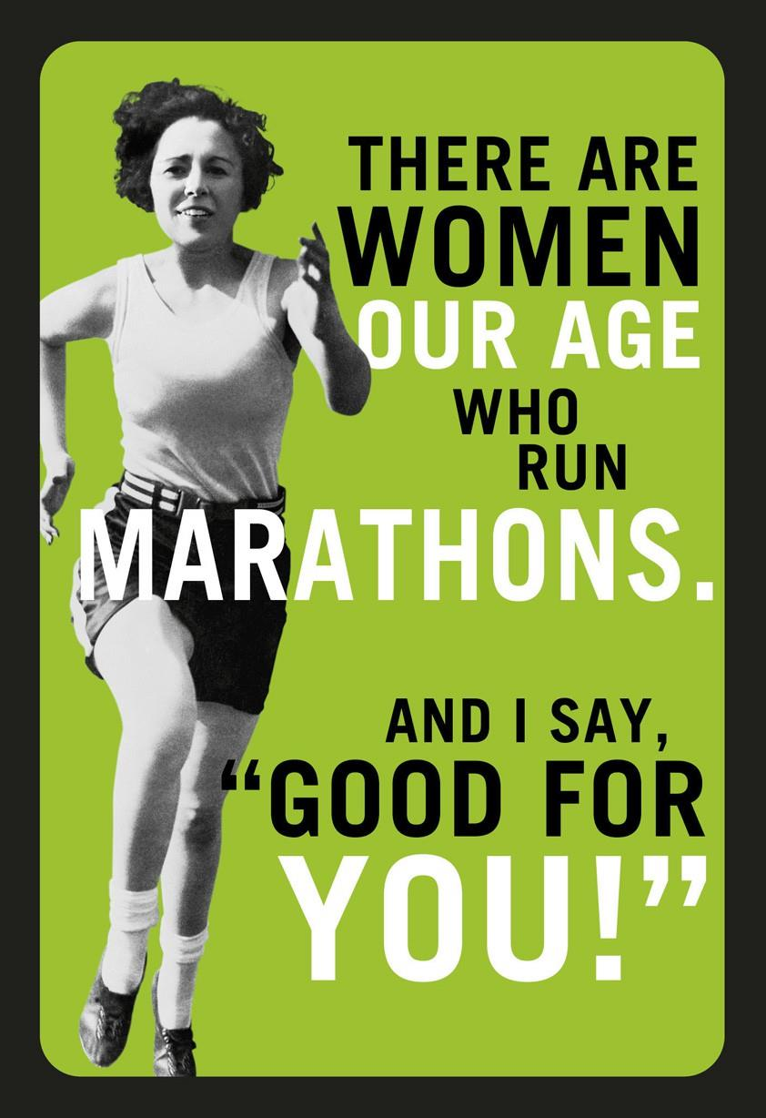 Marathons and Margaritas Funny Birthday Card for Her Greeting – Funny Birthday Card for Her