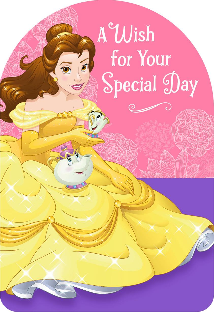 beauty and the beast belle special wish birthday card - Special Birthday Cards