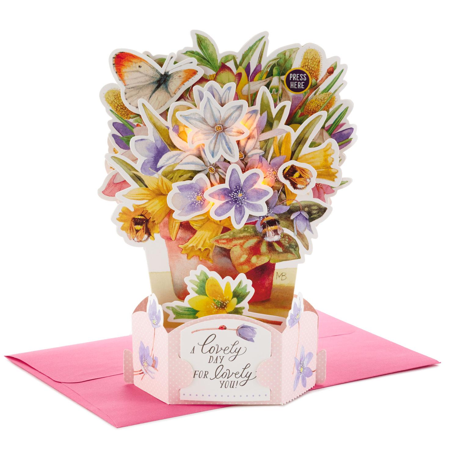 marjolein bastin flower bouquet pop up musical mother's