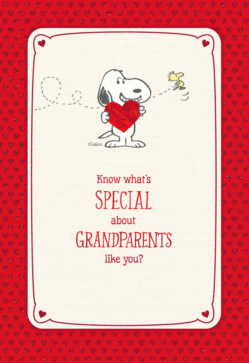 Peanuts special grandparents valentines day card greeting peanuts special grandparents valentines day card kristyandbryce Choice Image