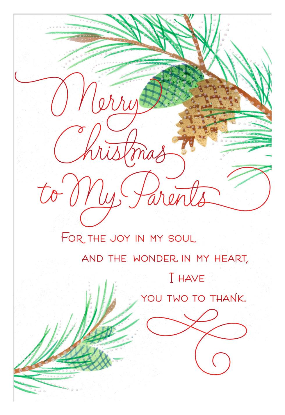 joy in my soul christmas card for parents
