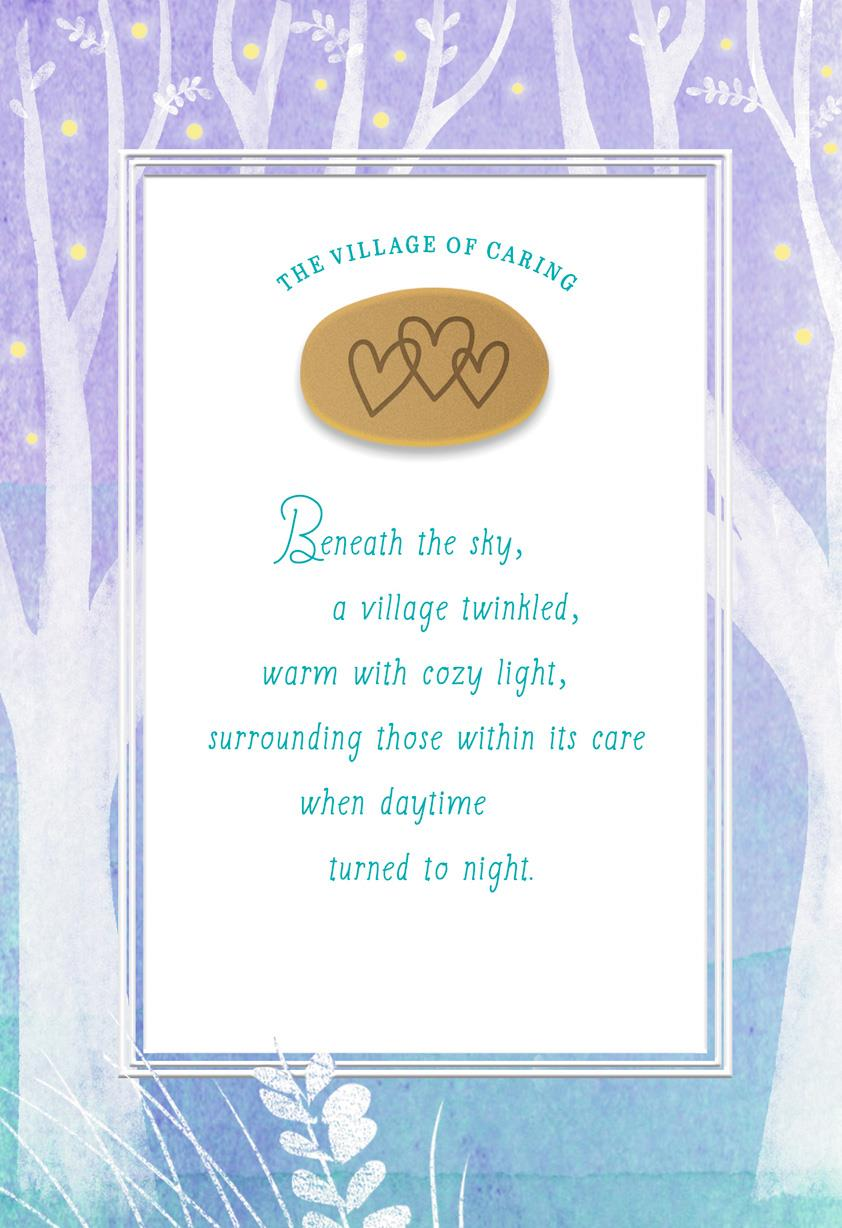 The Village Of Caring Encouragement Card Greeting Cards