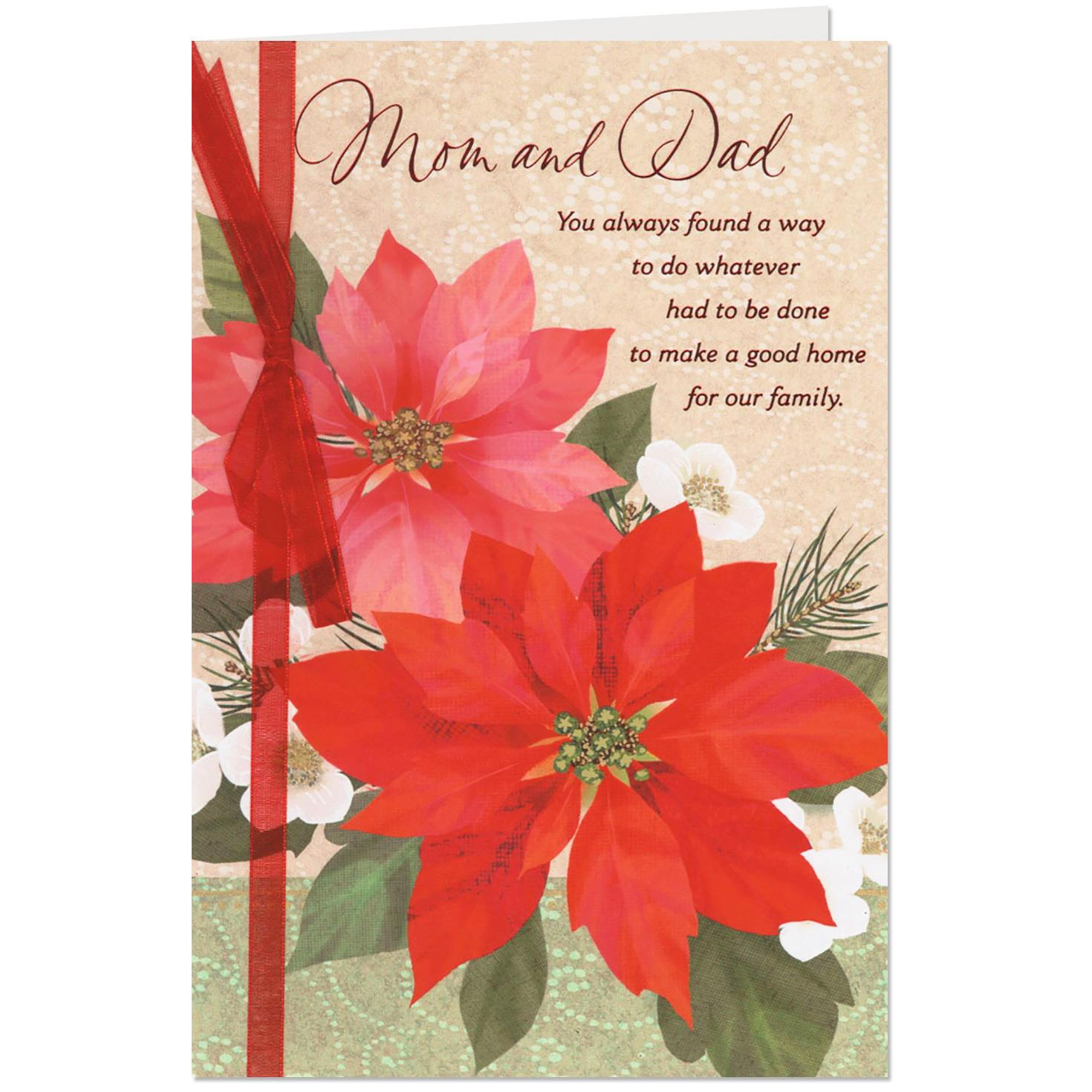 Family And Love Are The Best Gifts Christmas Card For Mom And Dad