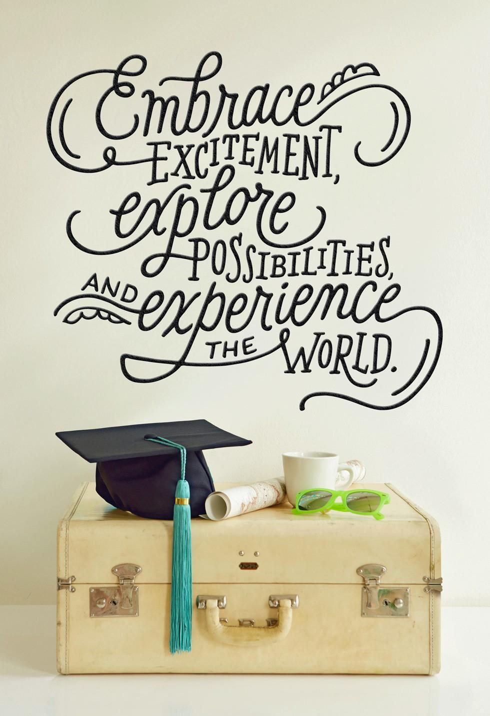 travel-ready graduate greeting card