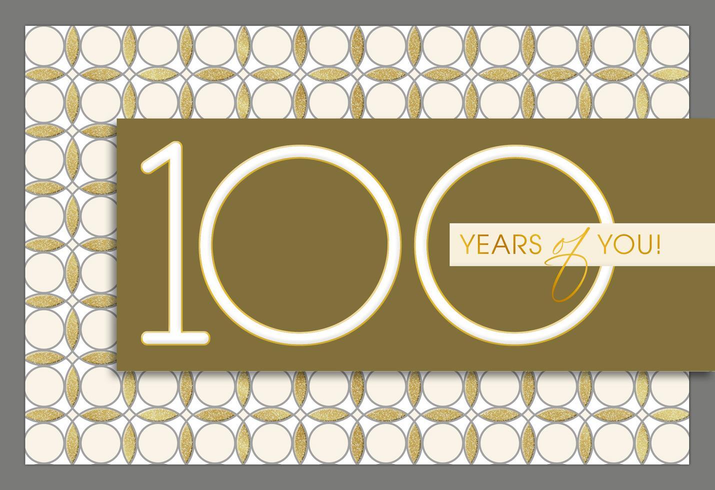 Live Well 100th Birthday Card Greeting Cards Hallmark