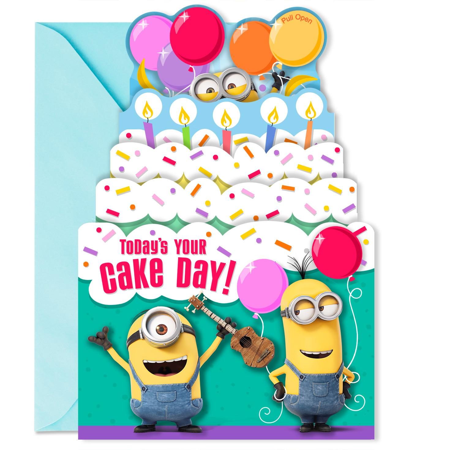 Despicable Me Minions Extra Happy Birthday Sound Card Greeting