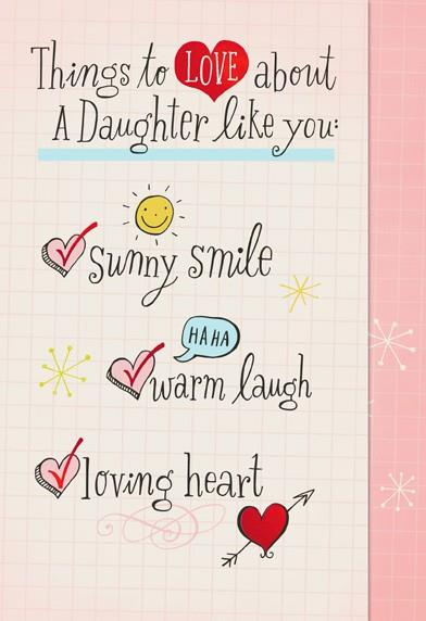 daughter love checklist valentines day card greeting cards hallmark - Valentines Day Daughter