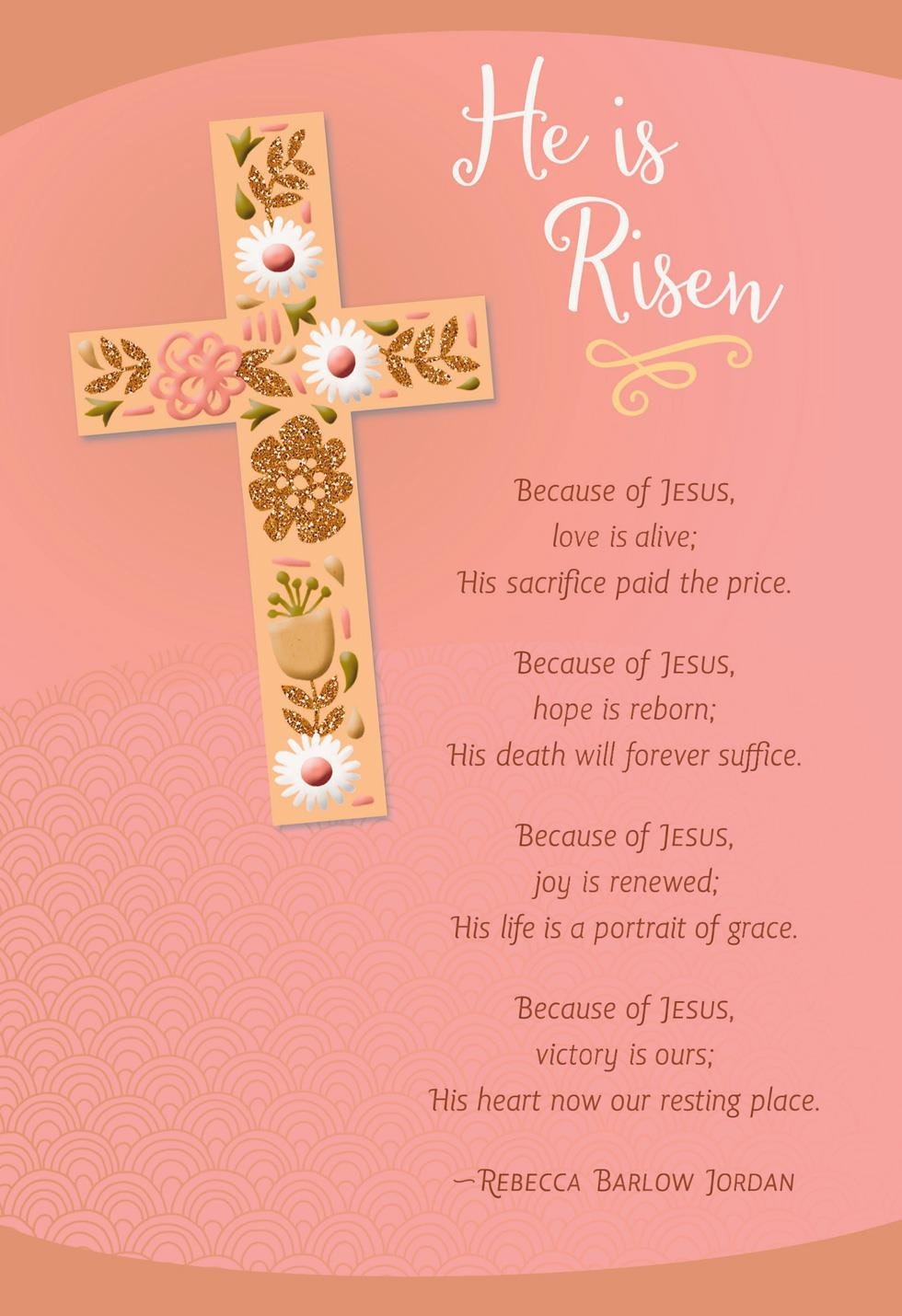 He is Risen Decorated Cross Easter Card Greeting Cards Hallmark – Hallmark Easter Cards