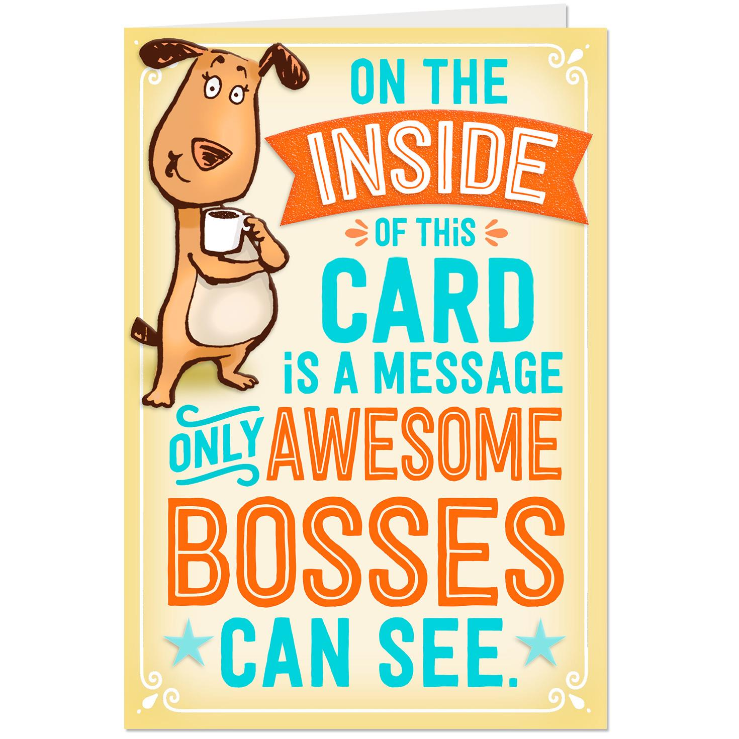 For An Awesome Boss Pop Up Bosss Day Card Greeting Cards Hallmark