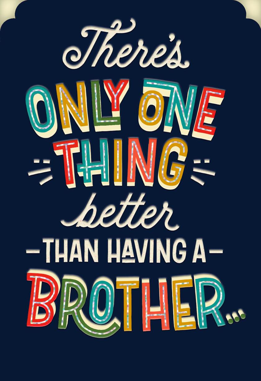 Like A Brother Birthday Card