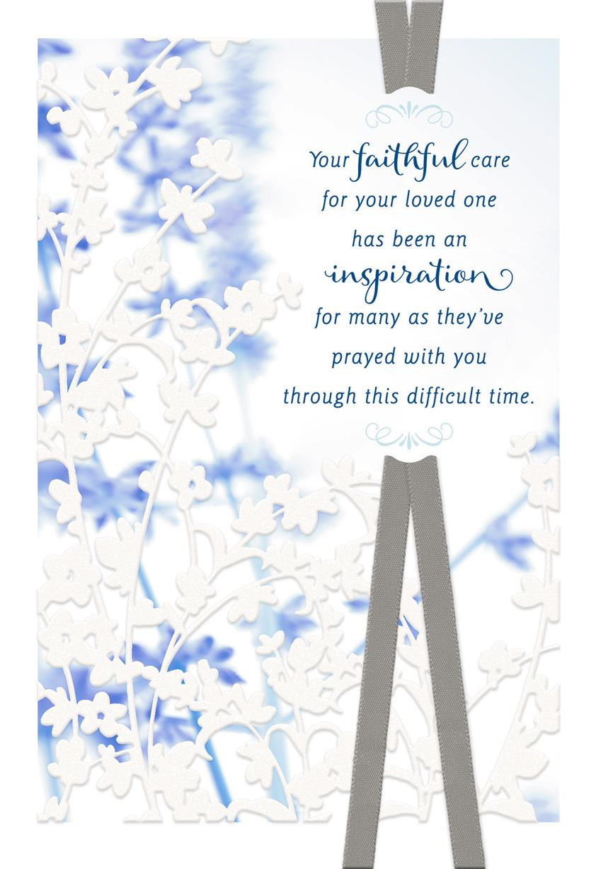 My Prayers For You Religious Sympathy Card Greeting