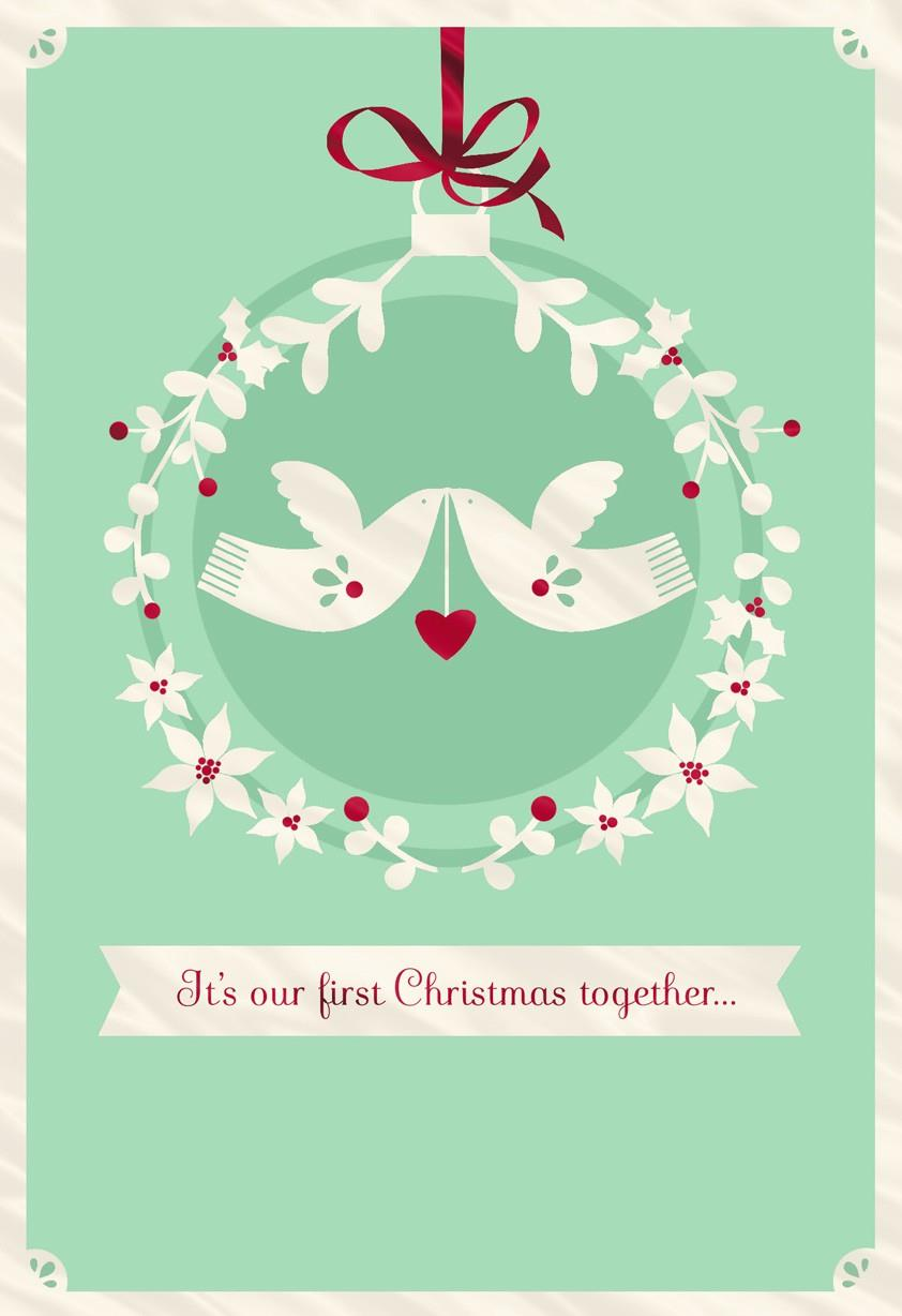 White Doves First Christmas Greeting Card Greeting Cards Hallmark
