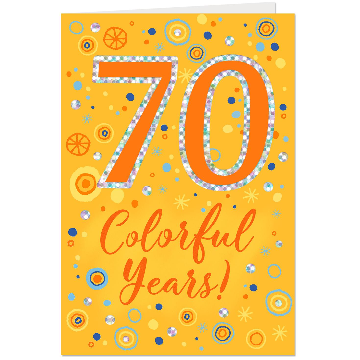 Colorful Years 70th Birthday Card