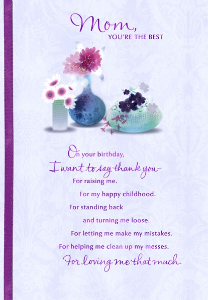 Mom, You're the Best Birthday Card - Greeting Cards - Hallmark