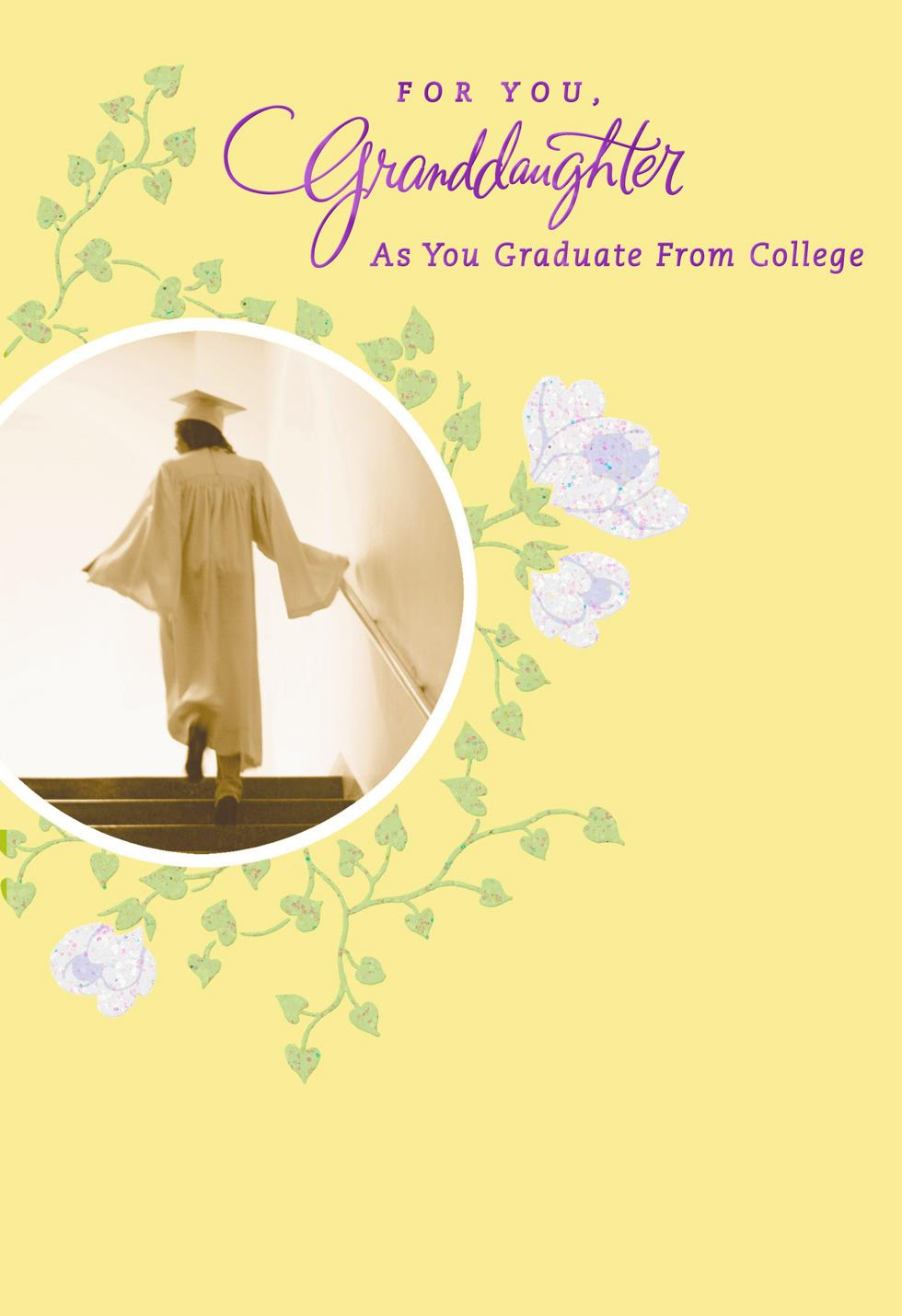 Forever Loved Granddaughter College Graduation Card