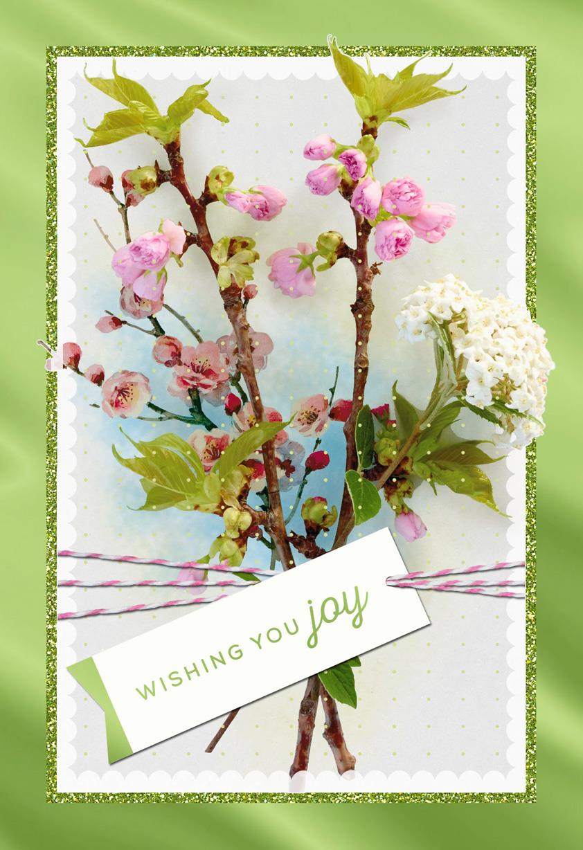 cherry blossom easter card - greeting cards