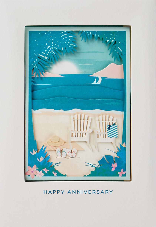 day at the beach anniversary card   greeting cards   hallmark