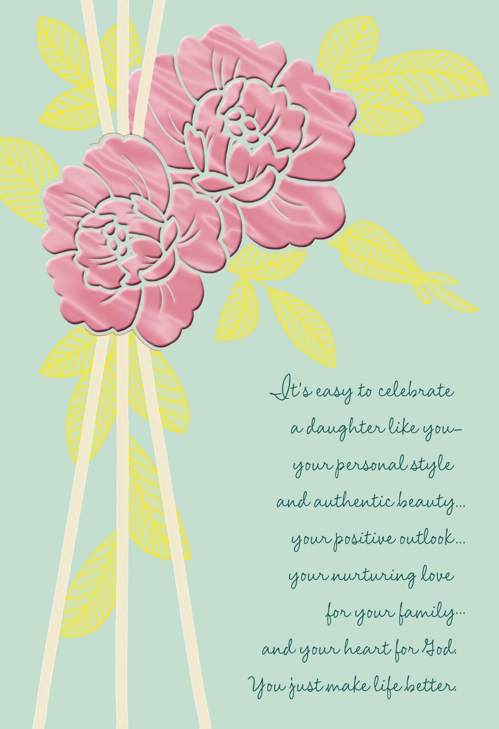 Celebrate You Daughter Religious Mothers Day Card Hallmark