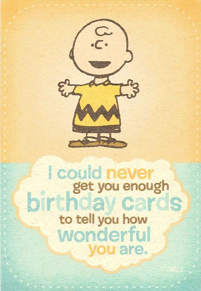Charlie Brown And The Peanuts 174 Gang Birthday Card