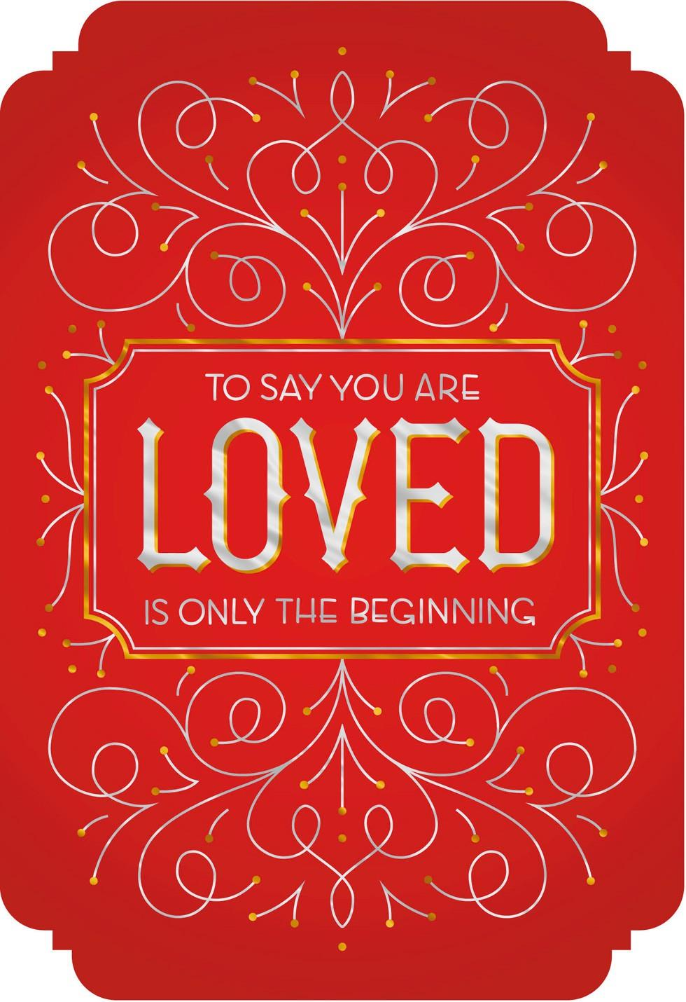 You are Loved Valentines Day Card for Daughter and Husband – Valentines Day Card for Husband