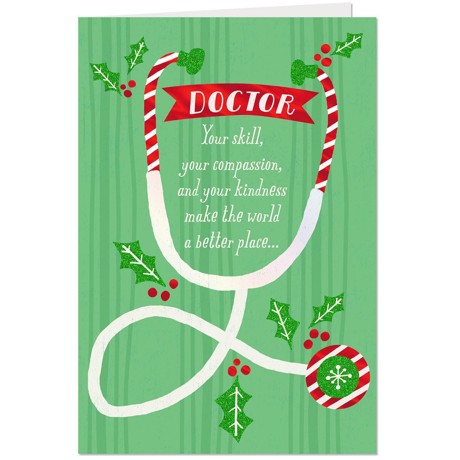 Your Skill, Compassion And Kindness Christmas Card For