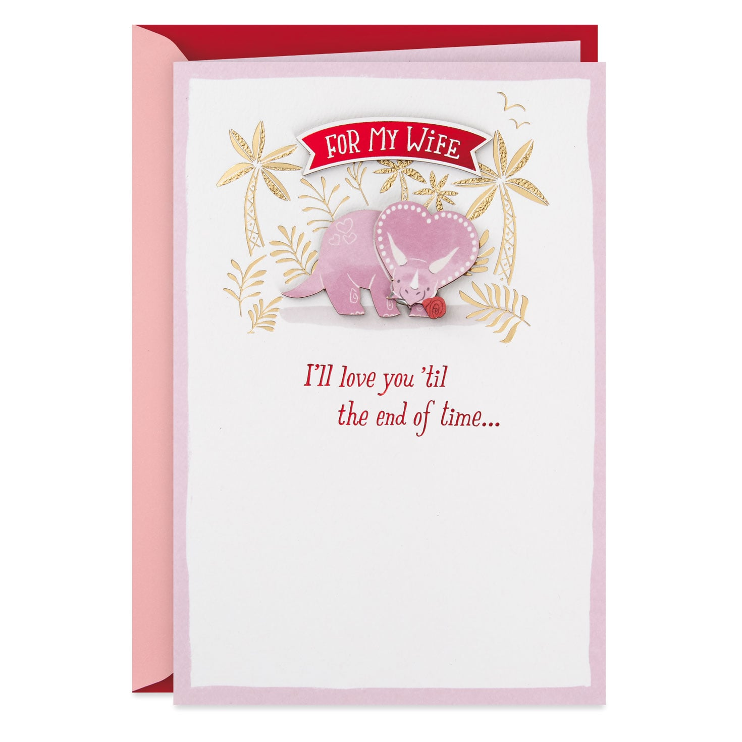 love you until the end of time valentine's day card for