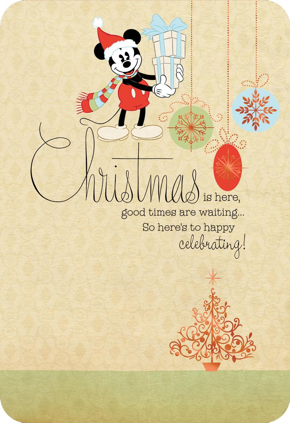 Disney Happy Celebrating Christmas Card Greeting Cards
