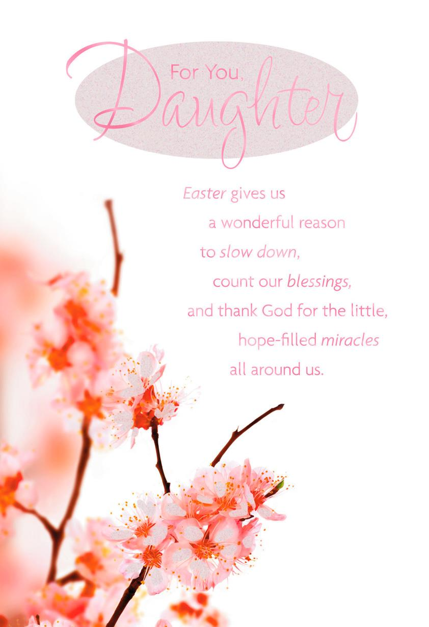 Spring blossoms religious easter card for daughter greeting cards spring blossoms religious easter card for daughter m4hsunfo