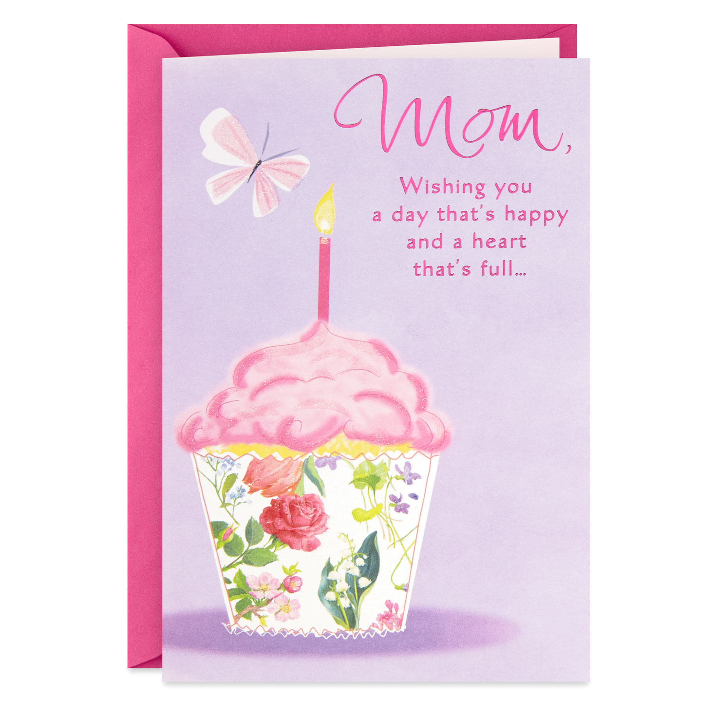 a happy day and a full heart birthday card for mom