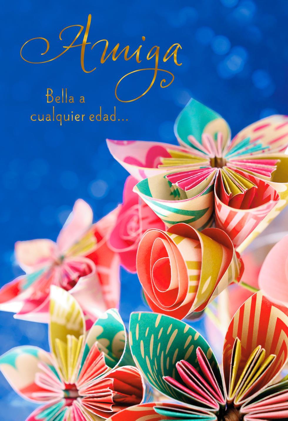 beautiful at any age spanishlanguage birthday card
